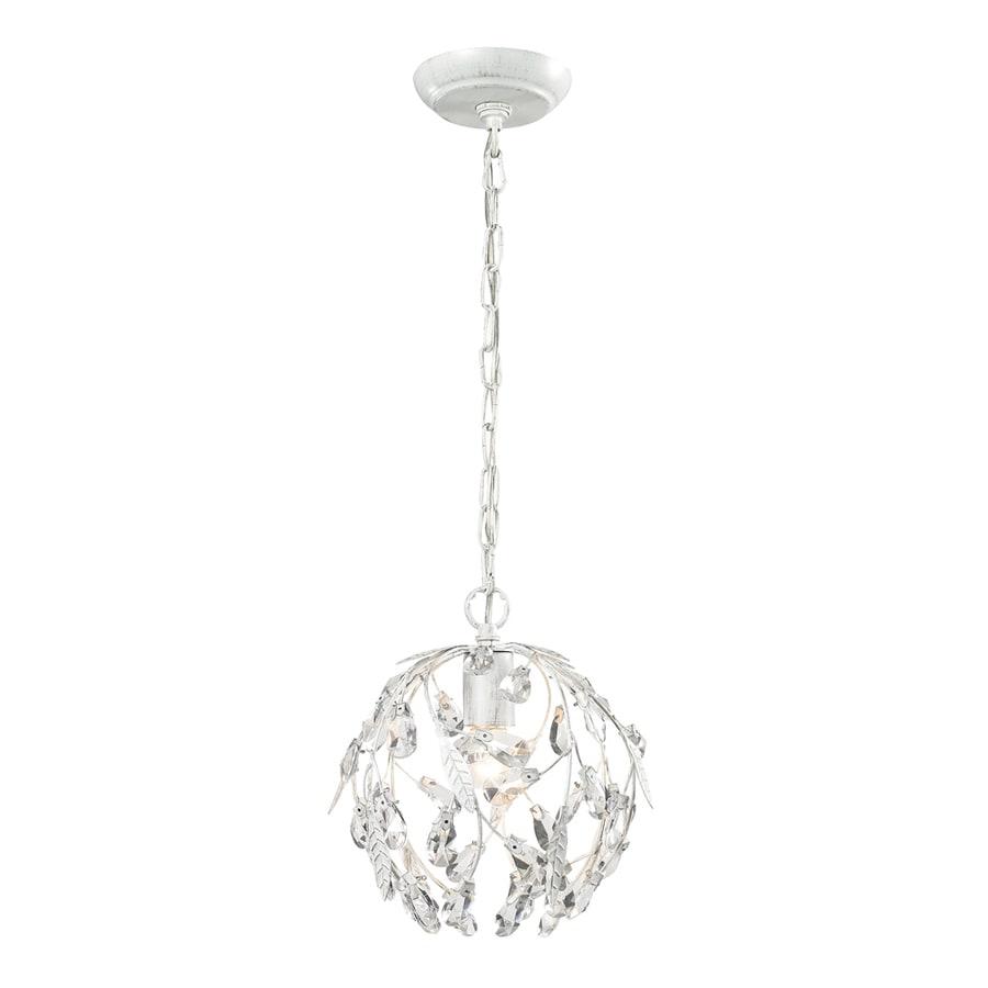 Westmore Lighting Faun 10-in Antique White Mini Globe Pendant