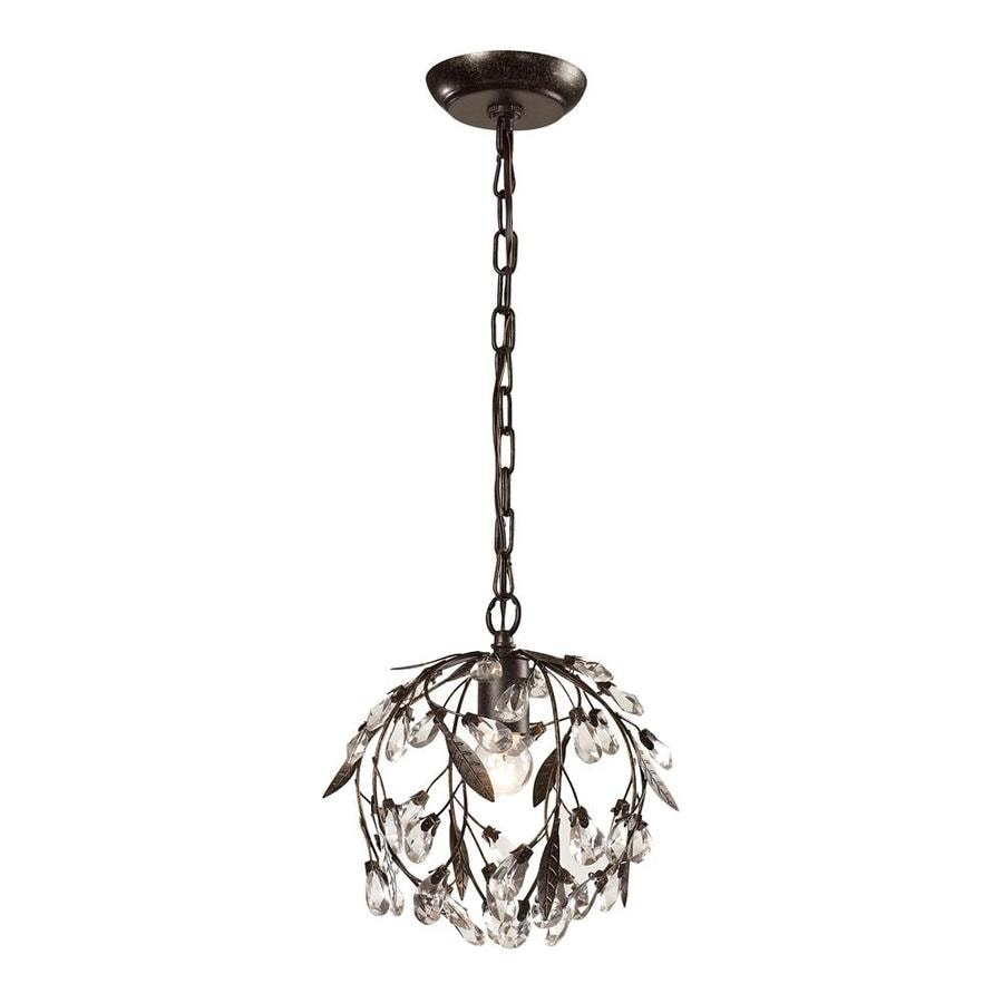 Westmore Lighting Faun 10-in Deep Rust Mini Globe Pendant