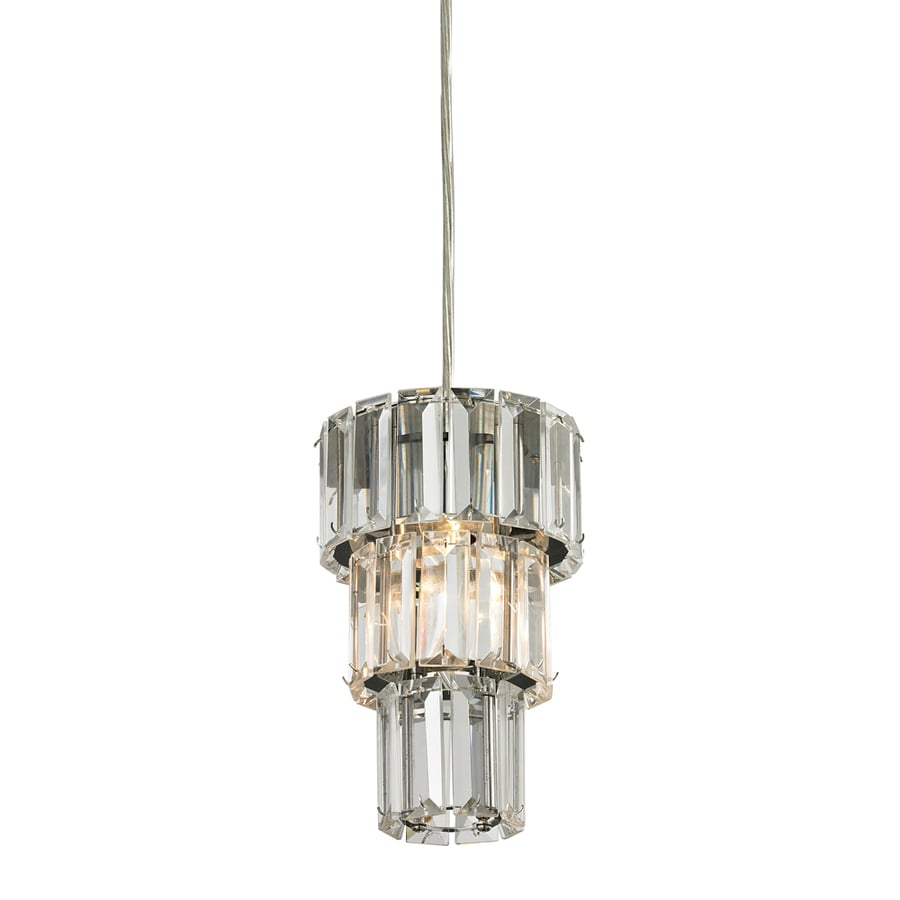Westmore Lighting Keswick 3-in Polished Chrome Crystal Mini Clear Glass Cylinder Pendant