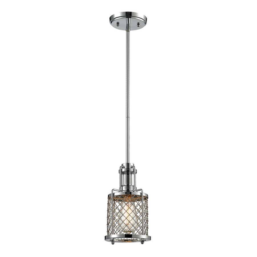 Westmore Lighting Wardenclyffe 9-in Polished Chrome Mini Pendant