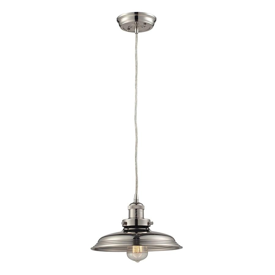 Westmore Lighting Longstock 9-in Polished Nickel Mini Pendant