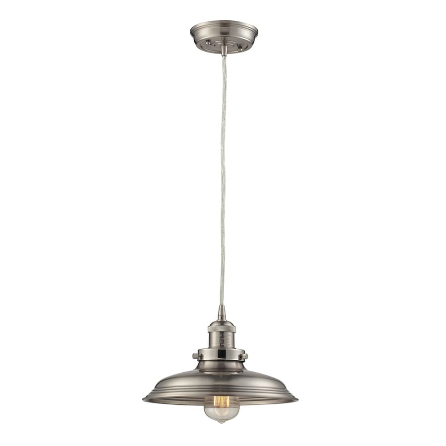Westmore Lighting Longstock 9-in Satin Nickel Mini Pendant
