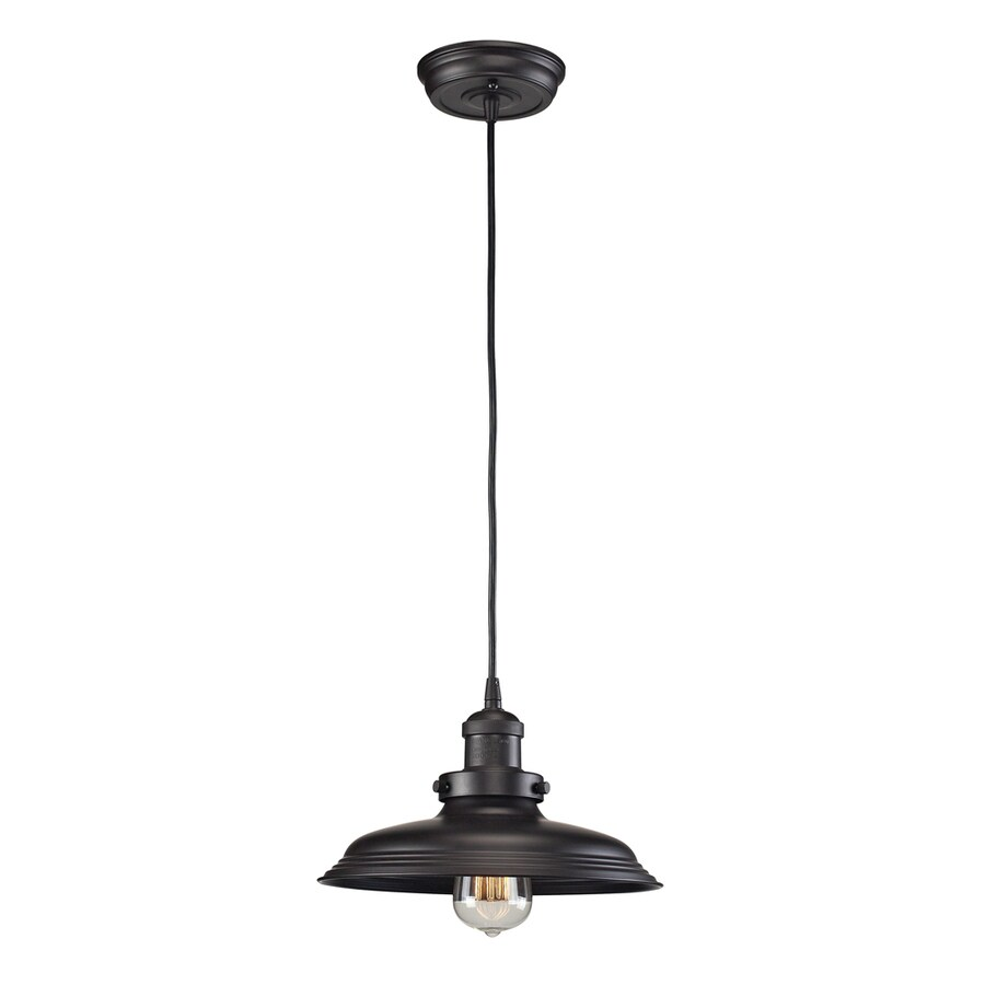 Westmore Lighting Longstock 9-in Oil Rubbed Bronze Mini Pendant