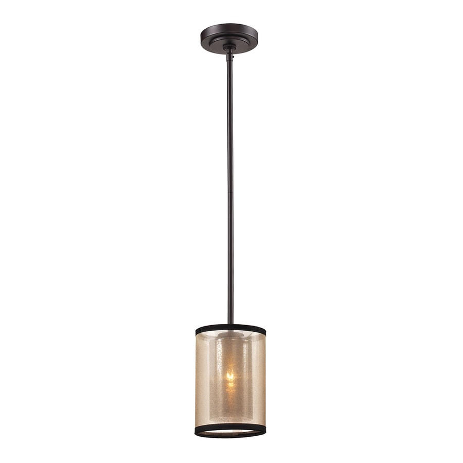 Shop Westmore Lighting Sandbar 6 In Oil Rubbed Bronze Mini Cylinder Pendant At