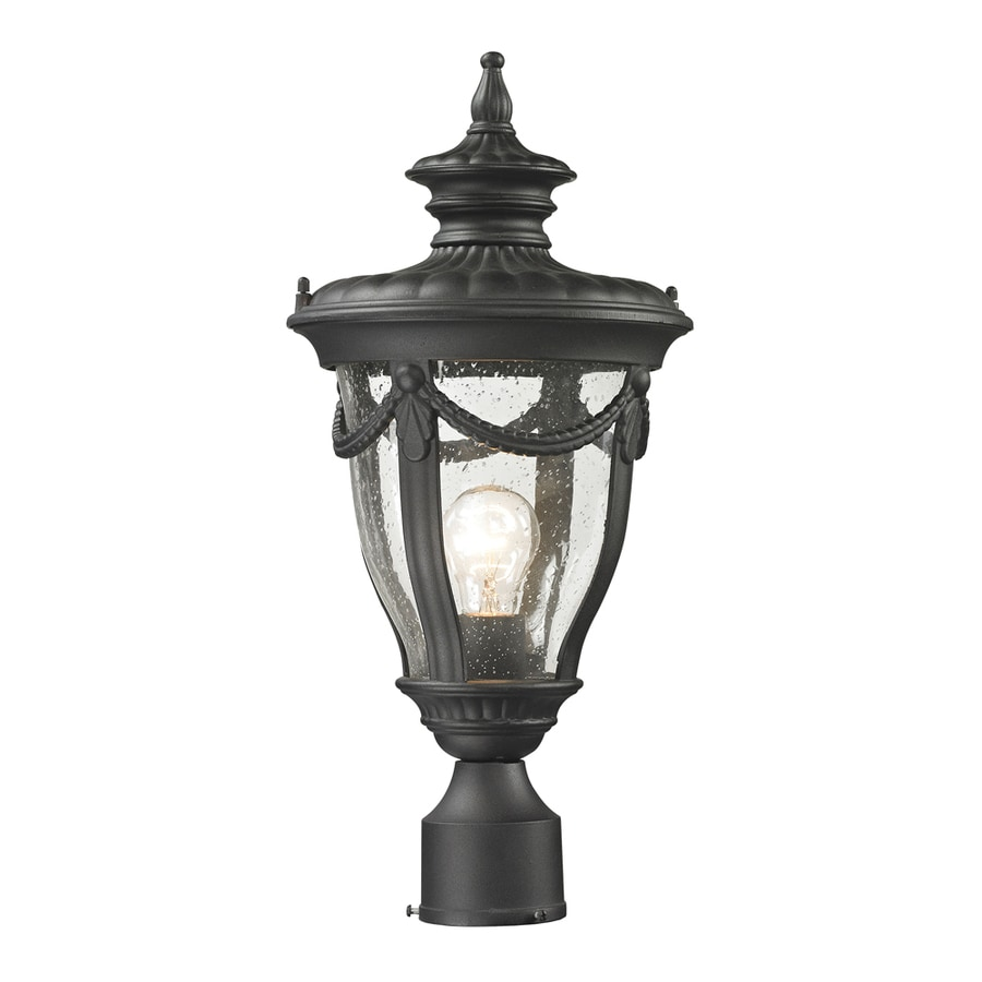 Westmore Lighting Cheshire 20-in H Textured Matte Black Post Light