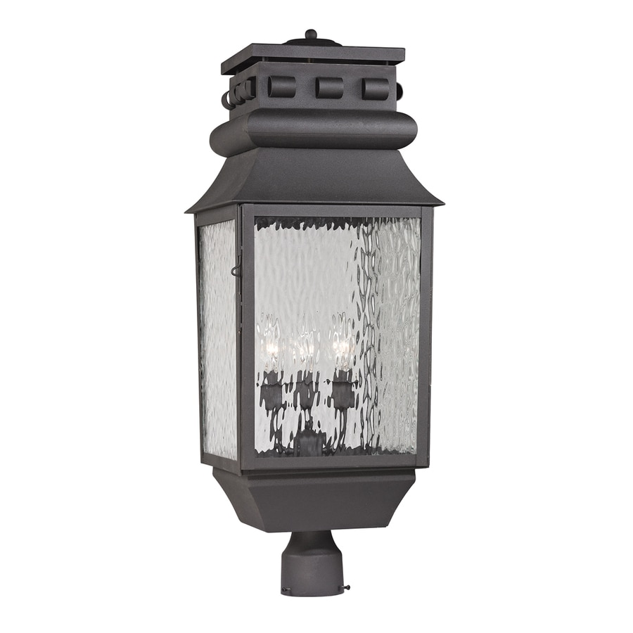 Westmore Lighting Eckhart's Forge 29-in H Charcoal Post Light