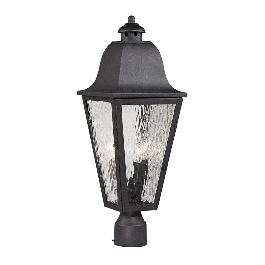 Westmore Lighting Black Creek 23-in H Charcoal Post Light