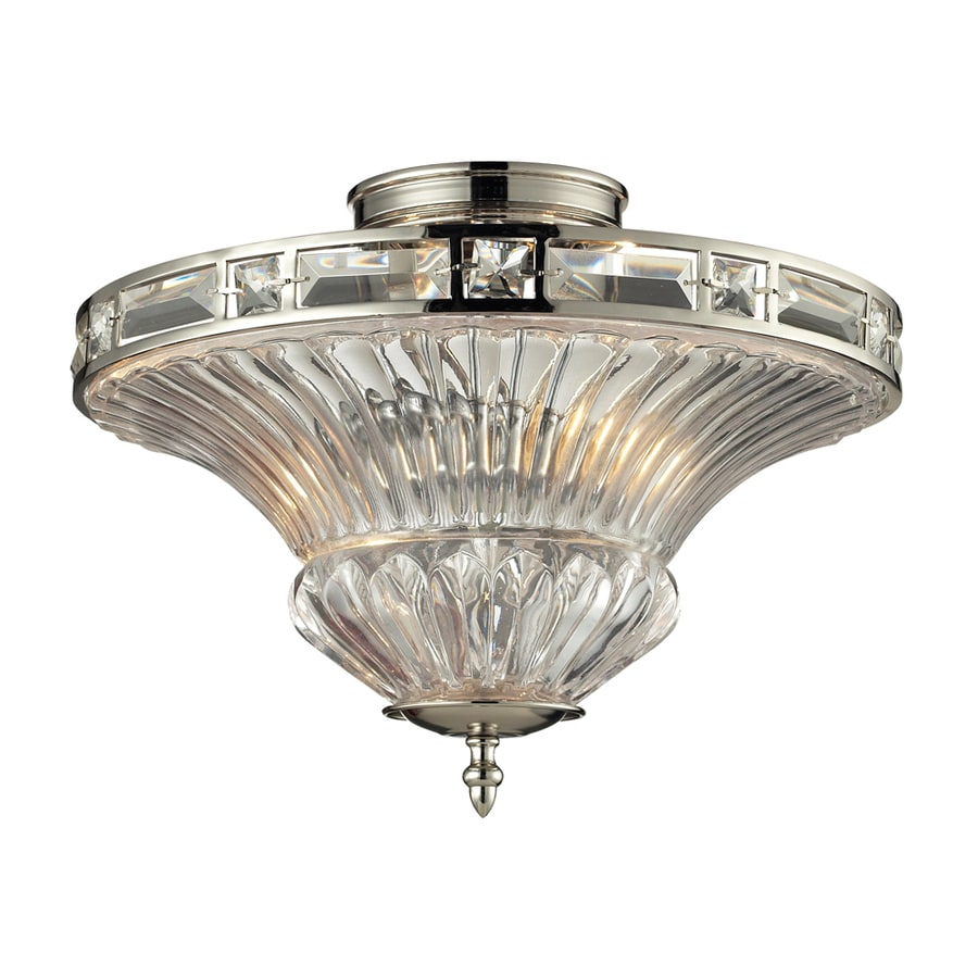 Westmore Lighting Minuet 15-in W Brushed Nickel Ceiling Flush Mount Light