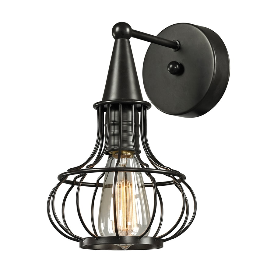 Westmore Lighting Bournemouth 7-in W 1-Light Oil Rubbed Bronze Arm Wall Sconce