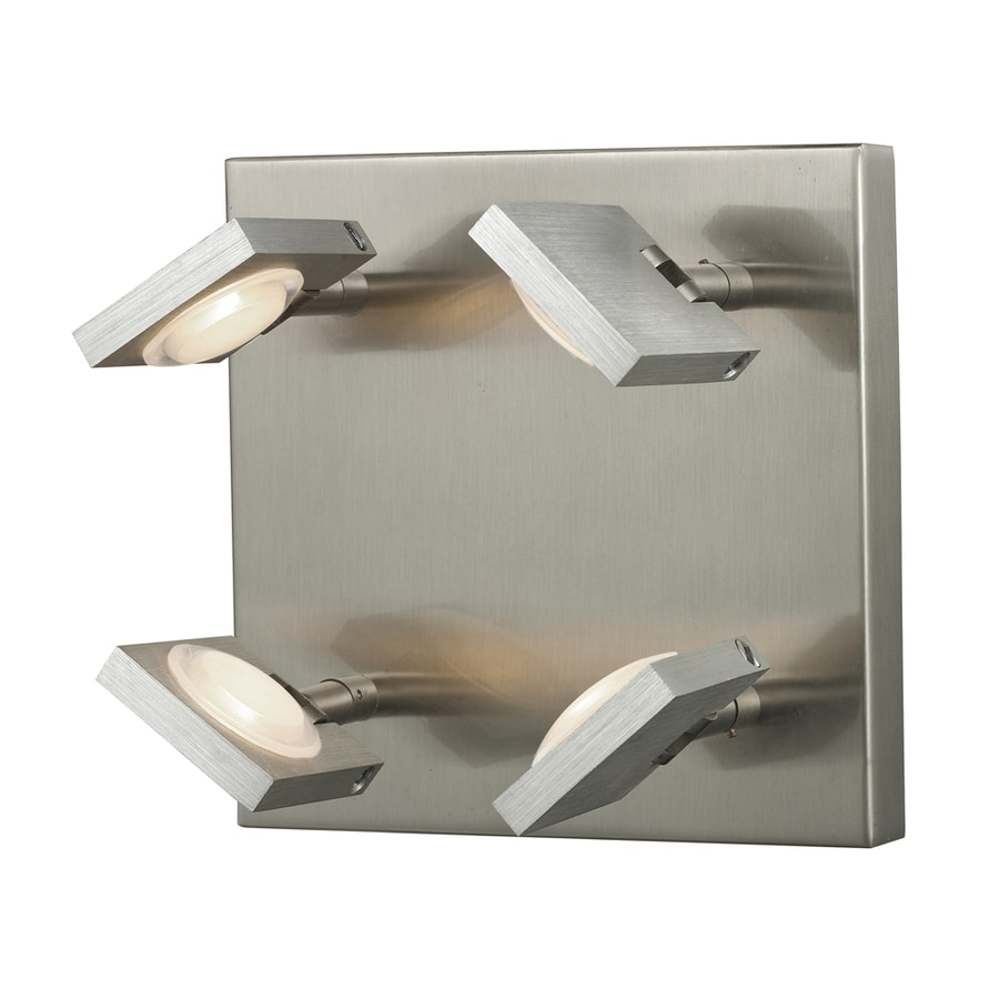 Westmore Lighting Calistoga 8-in W 4-Light Brushed Nickel Directional Wall Sconce