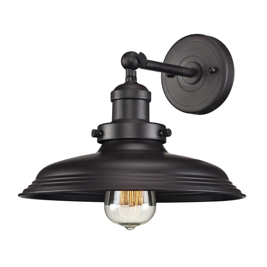 Shop Westmore Lighting Longstock 11-in W 1-Light Antique Copper Arm Wall Sconce at Lowes.com
