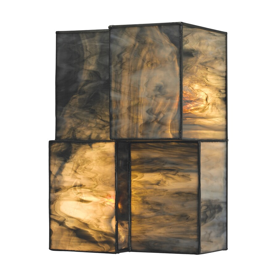 Westmore Lighting Tectonicus 7-in W 2-Light Brushed Nickel Candle Wall Sconce