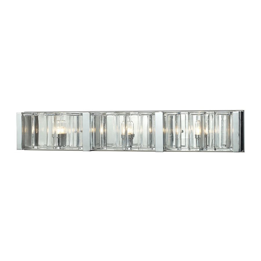 Westmore Lighting Niagara 3-Light 5-in Clear Rectangle Vanity Light