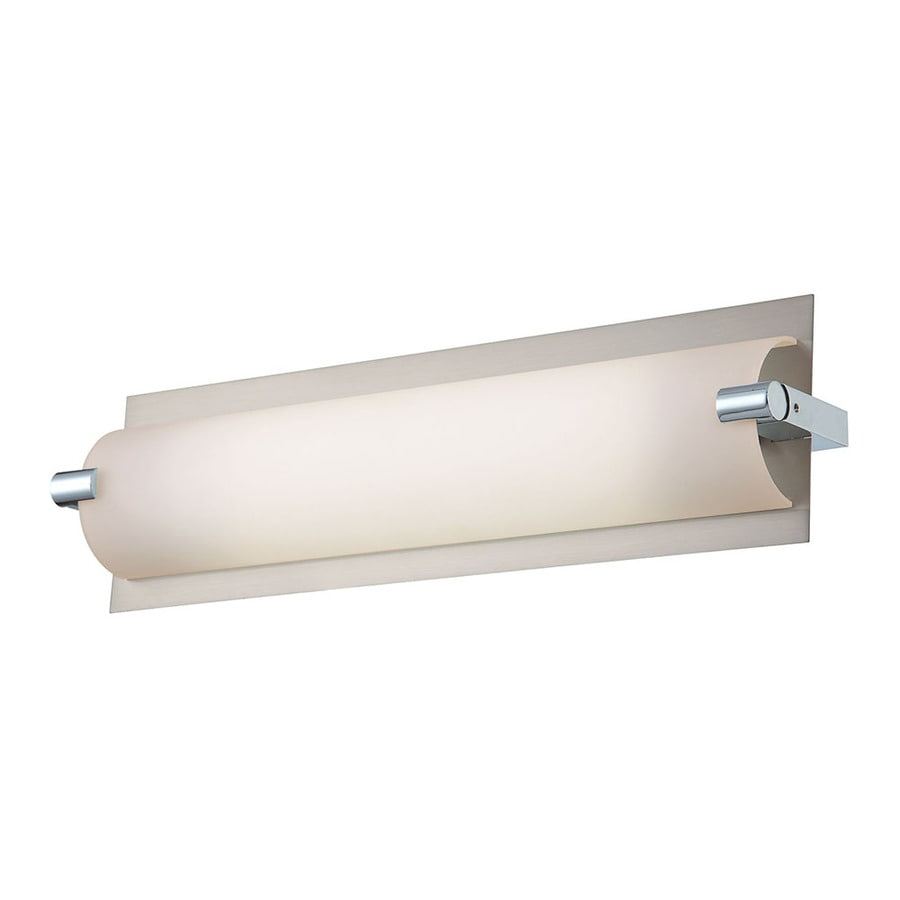 Westmore Lighting Halton 25-in W 1-Light Satin Nickel Directional Wall Sconce