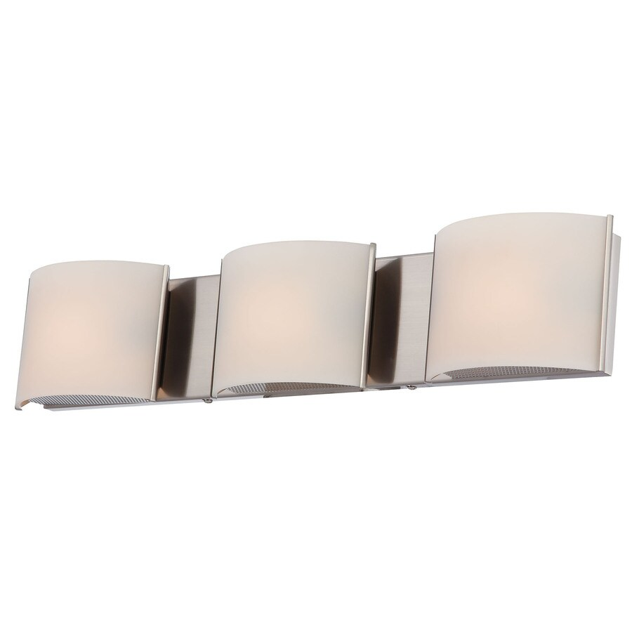 Westmore Lighting Stroud 3-Light 4.88-in Satin Nickel Vanity Light