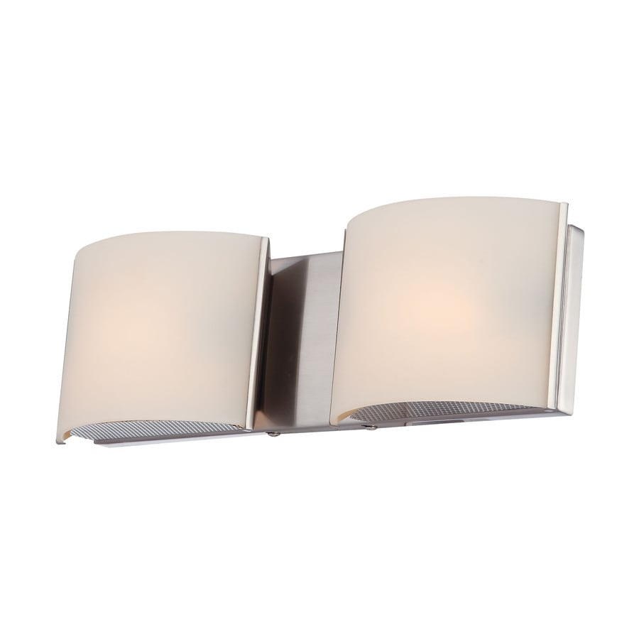 Westmore Lighting Stroud 2-Light 4.88-in Satin nickel Vanity Light