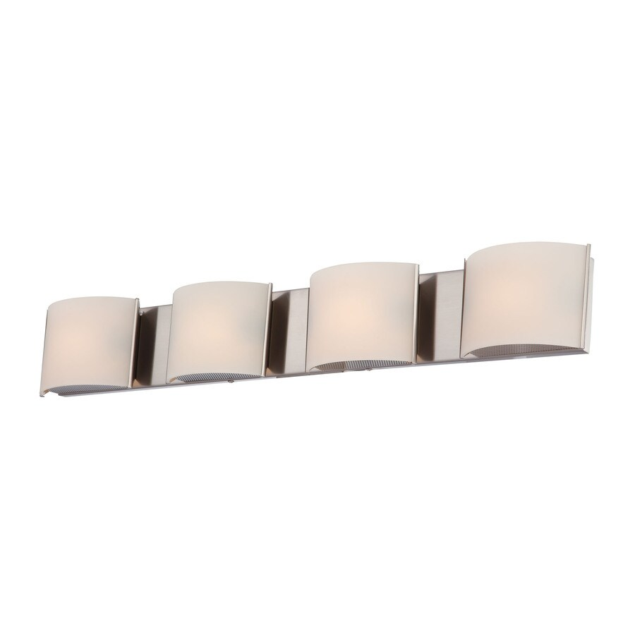 Westmore Lighting Stroud 4-Light 4.88-in Satin Nickel Vanity Light