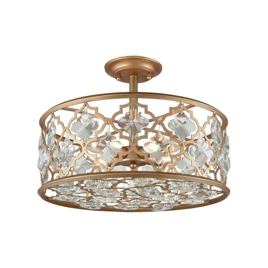 Westmore Lighting Granby 17-in W Matte Gold Crystal Semi