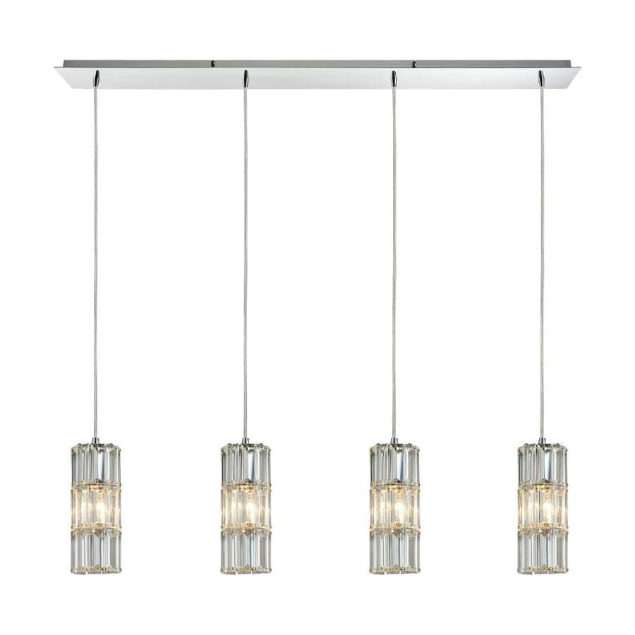 Westmore Lighting Keswick 4 Light 46 0000 In Polished Chrome Dimmable Gl Pendant Linear Track Kit