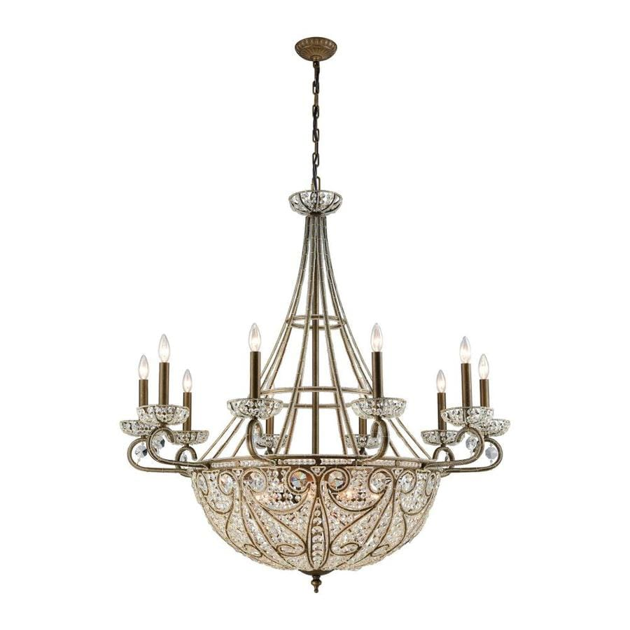 Bella Crystal Ring Chandelier: Westmore Lighting Bella 44.0 18-Light Dark Bronze Crystal