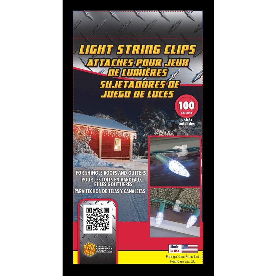 Commerical Christmas Hardware 100-Pack Plastic Gutter/Shingle Clips