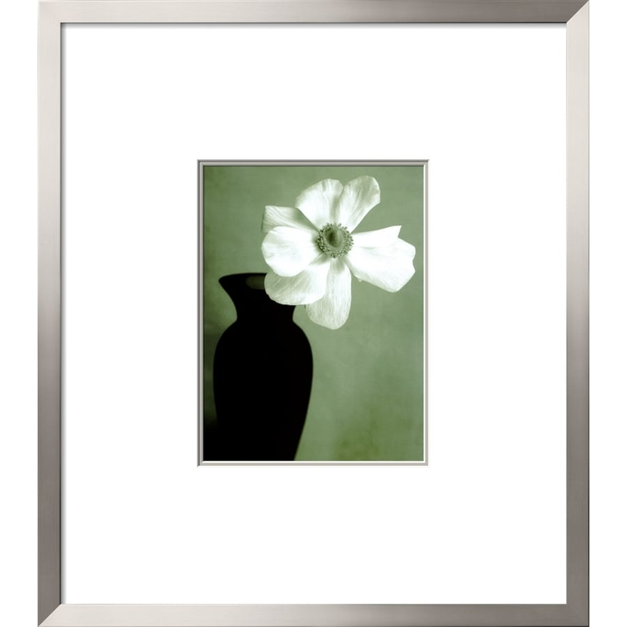 Shop artcom 30 in w x 34 in h framed floral and botanical for Kitchen cabinets lowes with wall art flower