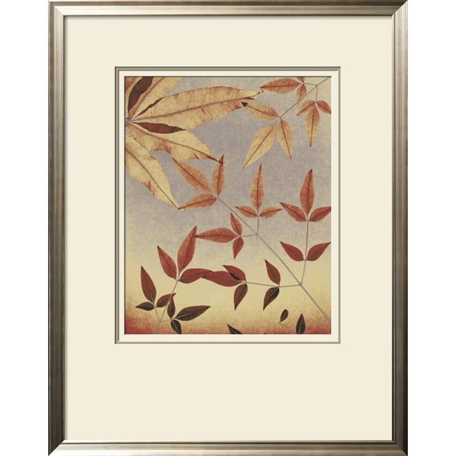 Shop artcom 28 in w x 36 in h framed floral and botanical for Kitchen cabinets lowes with wall art flower