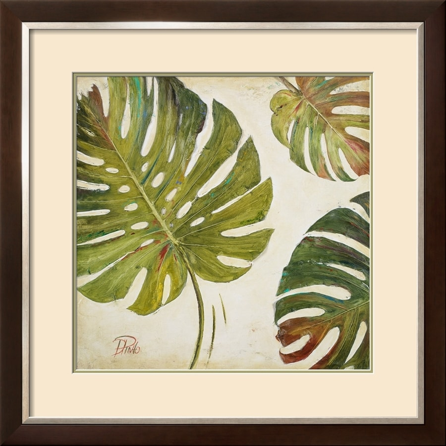Shop artcom 2975 in w x 2975 in h framed floral for Kitchen cabinets lowes with wall art flower