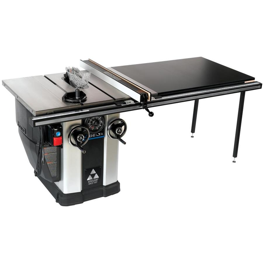 Shop table saws at lowes delta unisaw 10 in carbide tipped 15 amp table saw greentooth Choice Image