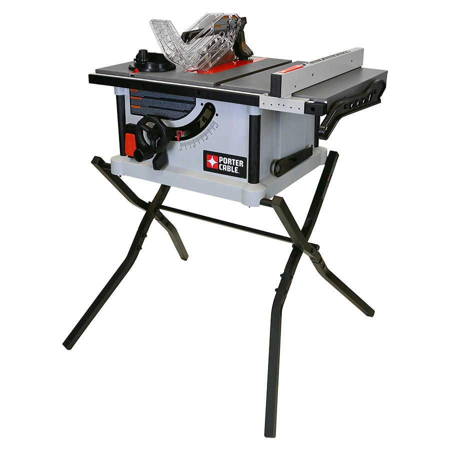 Shop table saws at lowes porter cable 15 amp 10 in carbide tipped table saw greentooth