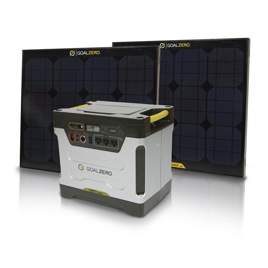 GOAL ZERO Yeti 1250 Watt-Hour Solar Home Generator Kit