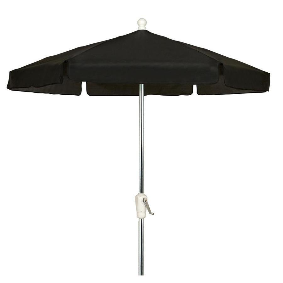 Fiberbuilt Home Black Market 7 5 Ft Patio Umbrella At Lowes Com