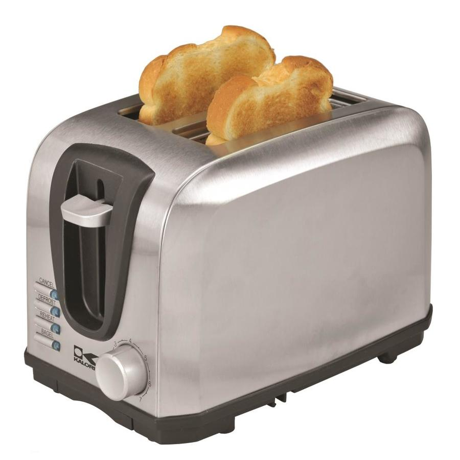 Shop Kalorik 2 Slice Stainless Steel Toaster At Lowes Com