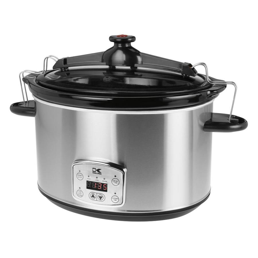 KALORIK Slow Cooker 8-Quart Stainless steel Oval Slow Cooker