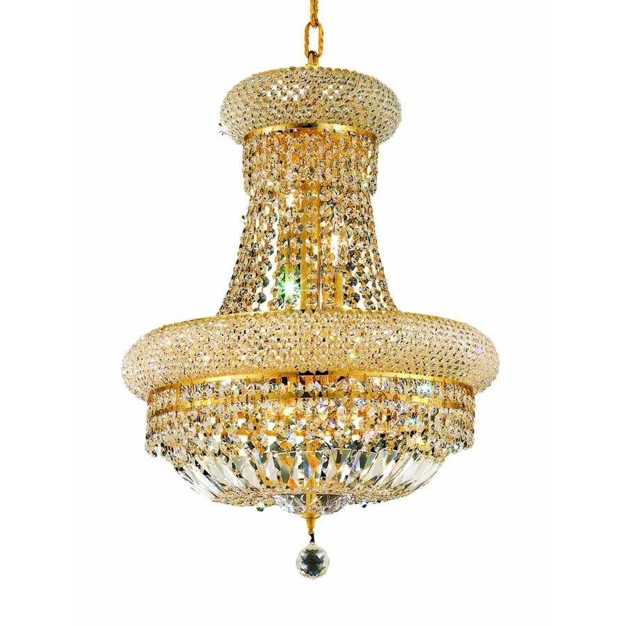 Luminous Lighting Primo 16-in 8-Light Gold Empire Chandelier
