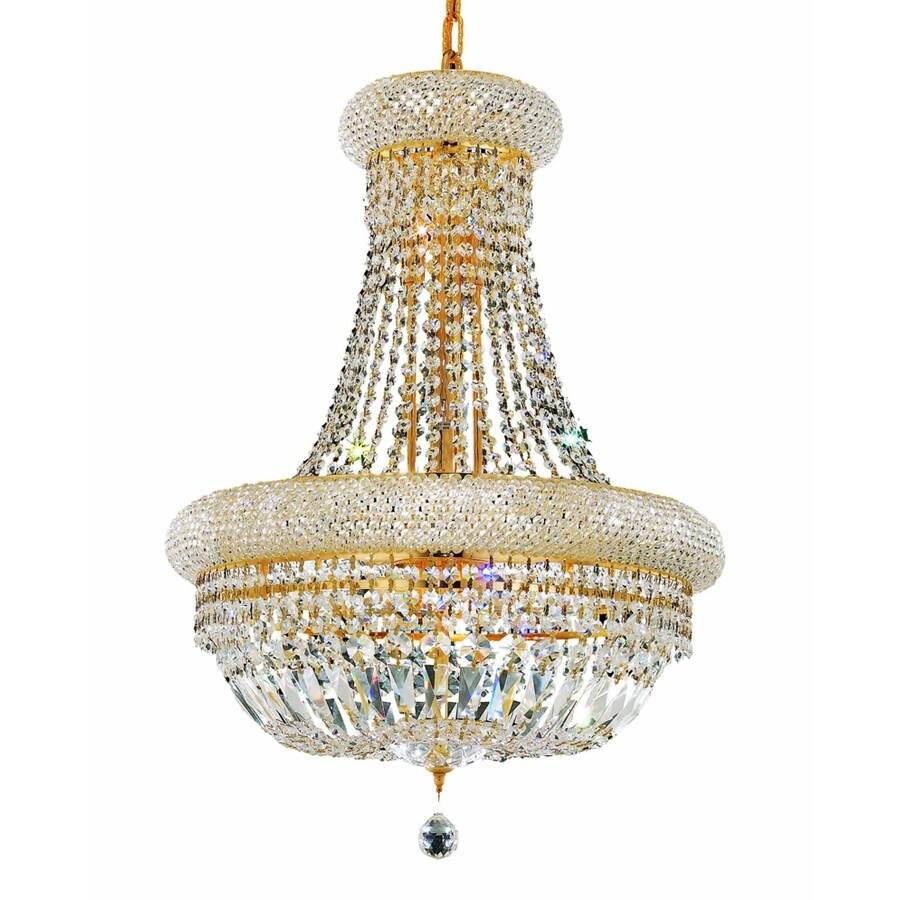 Luminous Lighting Primo 20-in 14-Light Gold Empire Chandelier