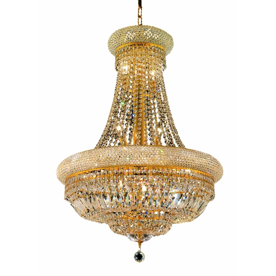 Luminous Lighting Primo 24-in 14-Light Gold Empire Chandelier