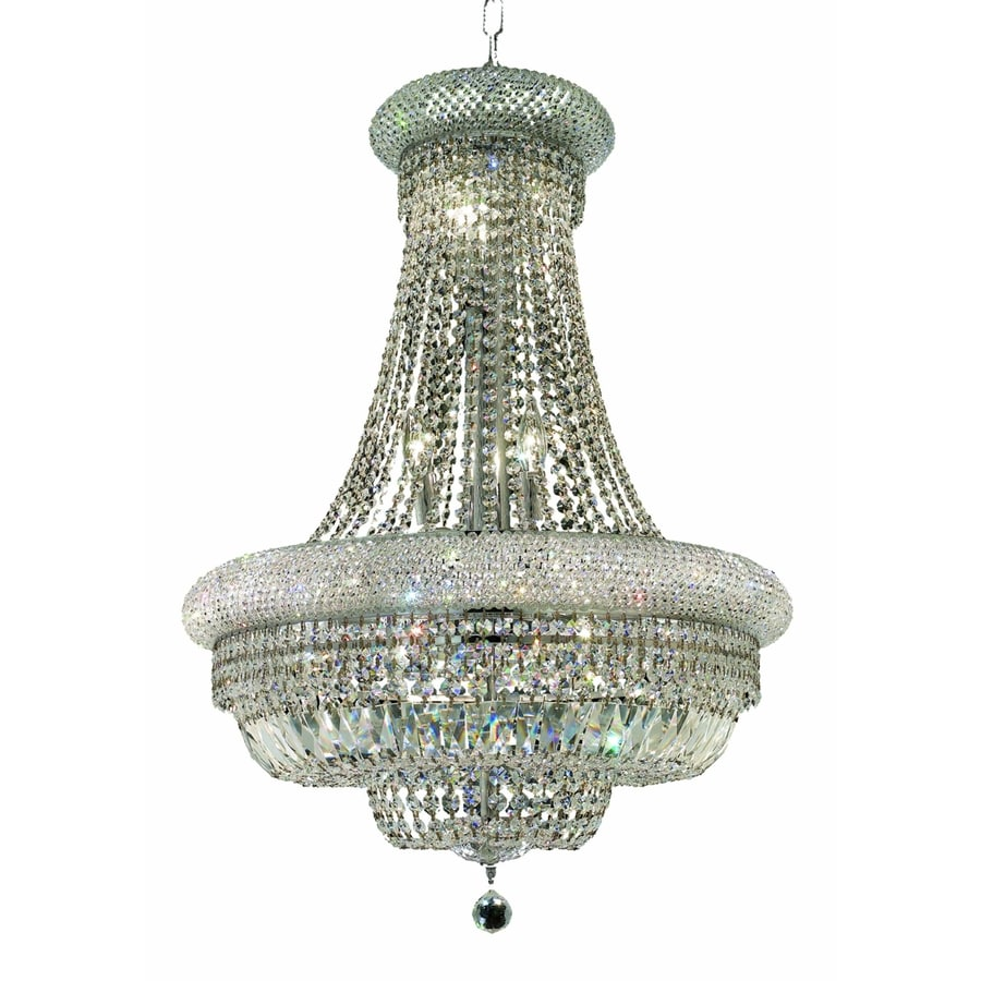 Luminous Lighting Primo 24-in 14-Light Chrome Empire Chandelier