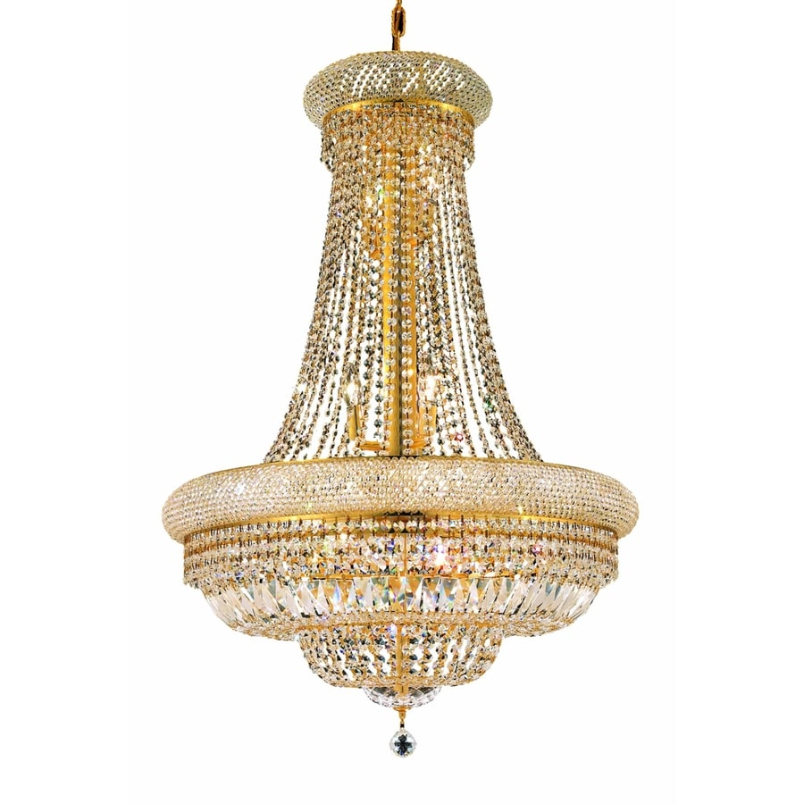 Luminous Lighting Primo 28-in 14-Light Gold Empire Chandelier