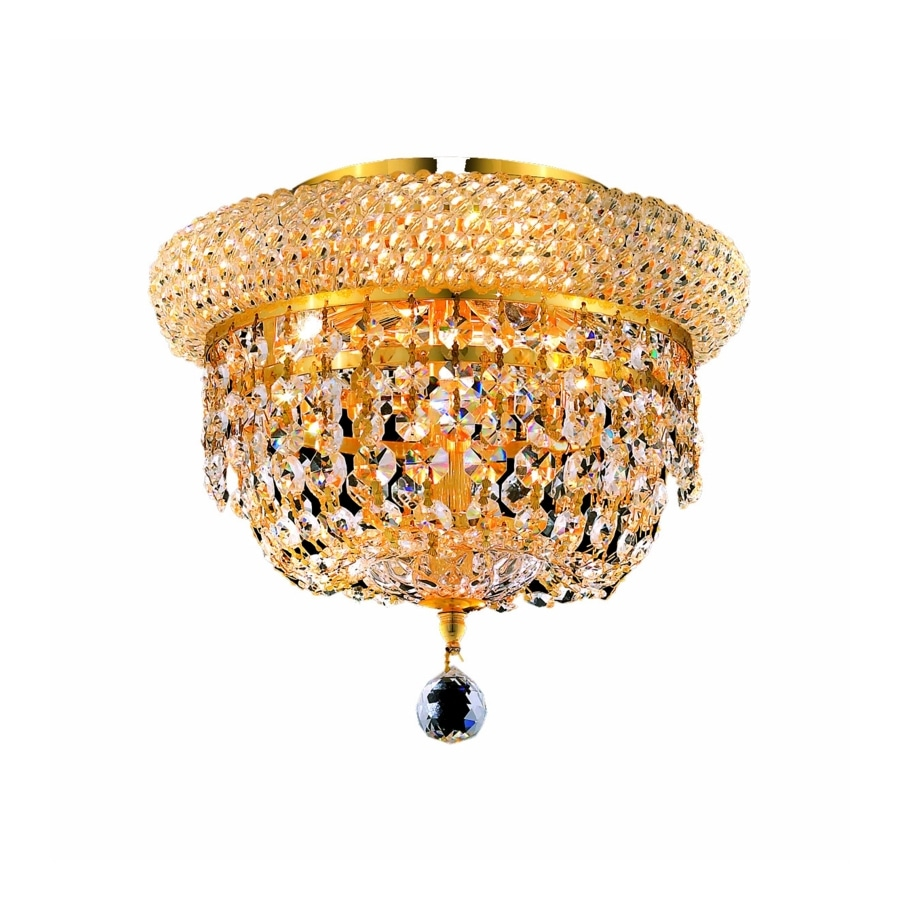 Luminous Lighting Primo 7-in W Gold Flush Mount Light