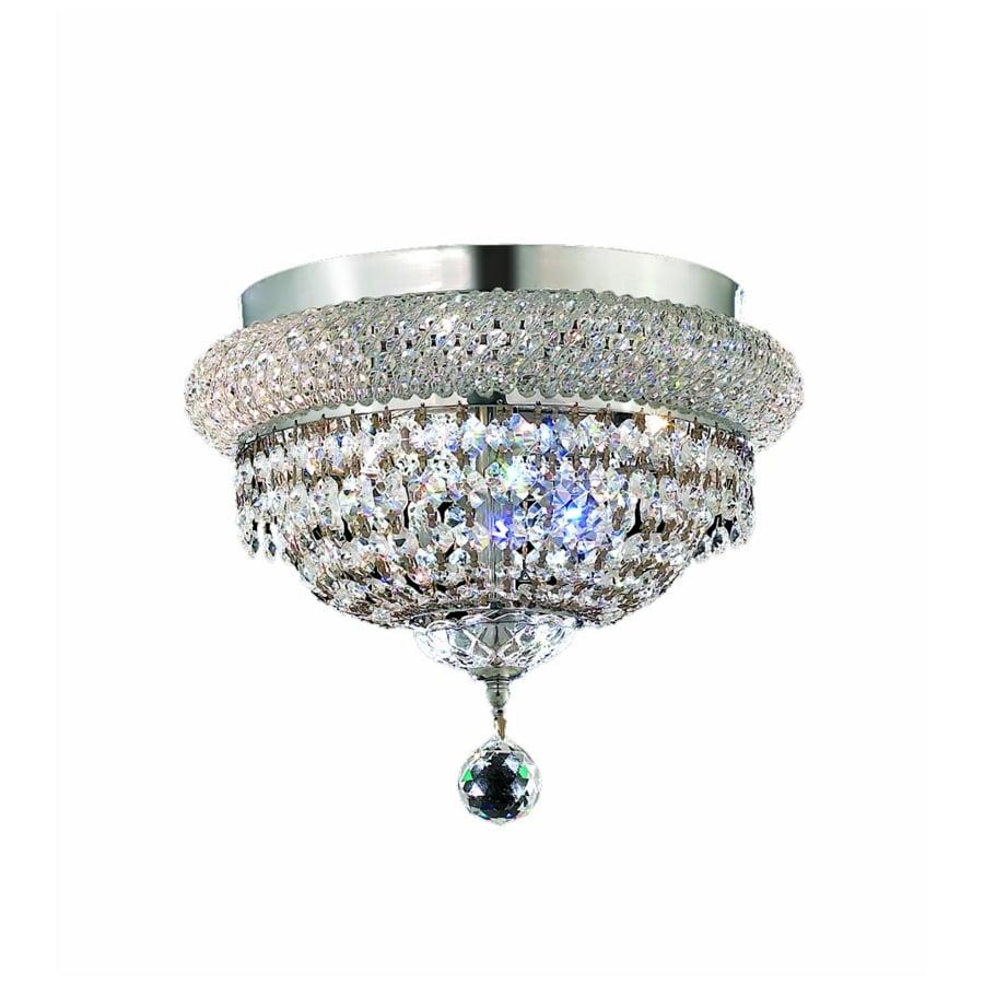 Luminous Lighting Primo 12-in W Chrome Standard Flush Mount Light