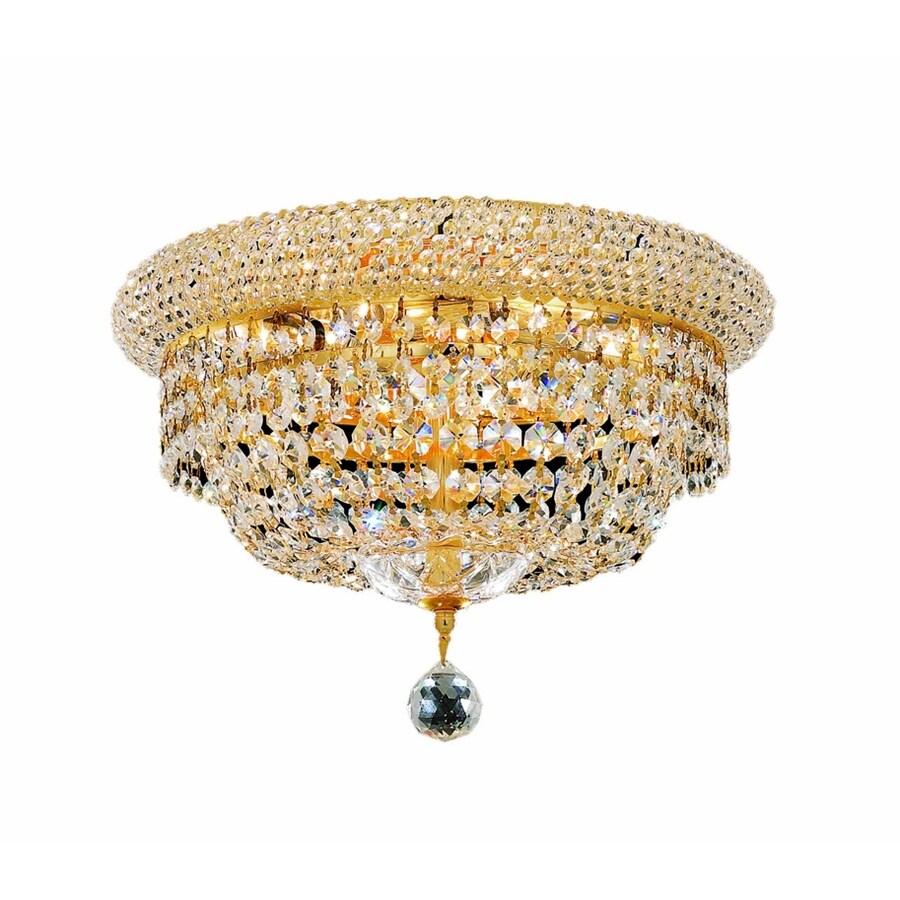 Luminous Lighting Primo 10-in W Gold Flush Mount Light