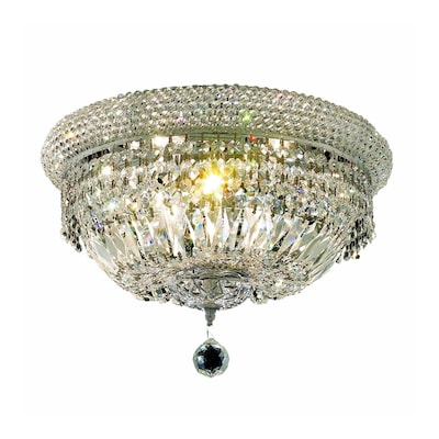 Luminous Lighting Primo 11 In Chrome Flush Mount Light At
