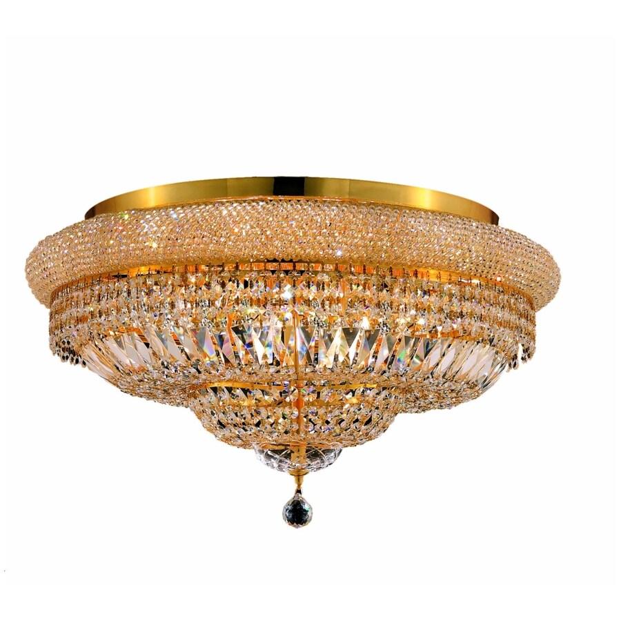 Luminous Lighting Primo 15-in W Gold Flush Mount Light