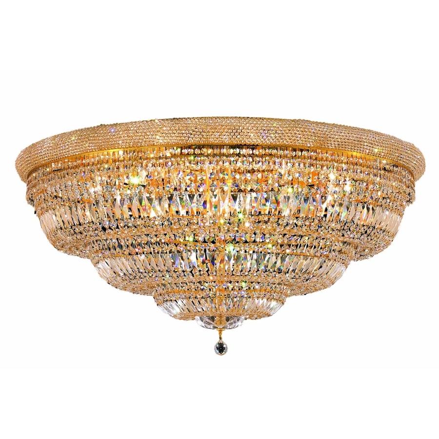 Luminous Lighting Primo 23-in W Gold Flush Mount Light