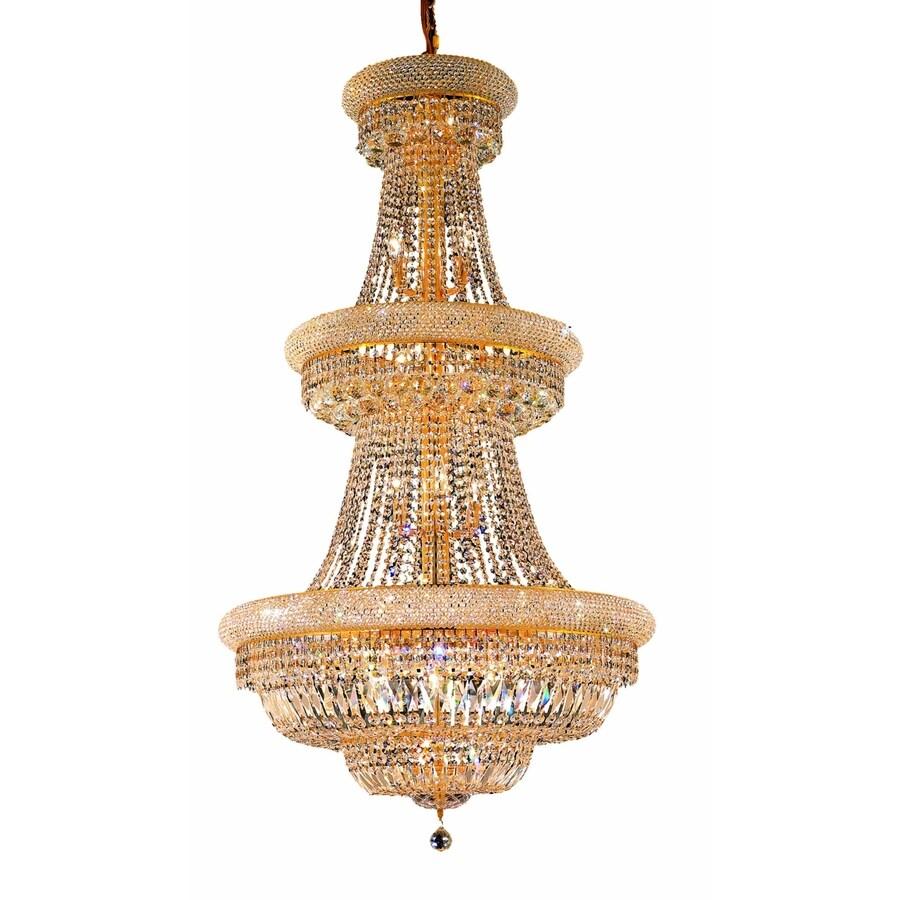 Luminous Lighting Primo 30-in 32-Light Gold Empire Chandelier