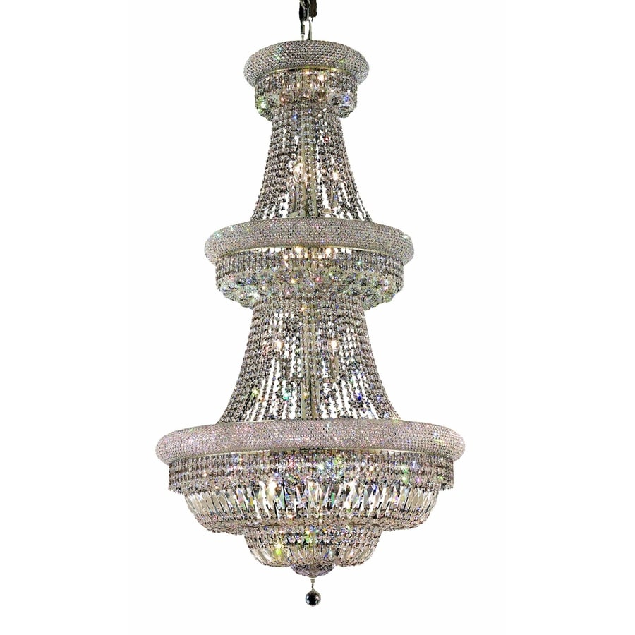 Luminous Lighting Primo 30-in 32-Light Chrome Empire Chandelier