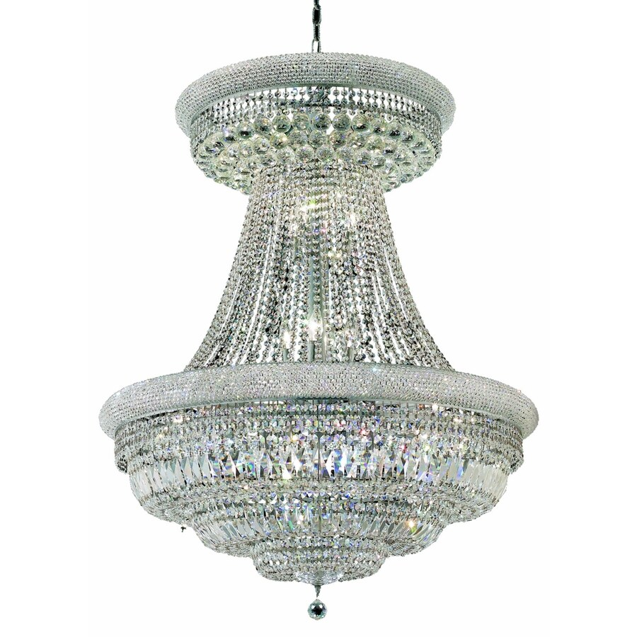 Luminous Lighting Primo 36-in 28-Light Chrome Empire Chandelier