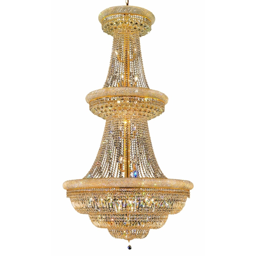 Luminous Lighting Primo 42-in 38-Light Gold Empire Chandelier