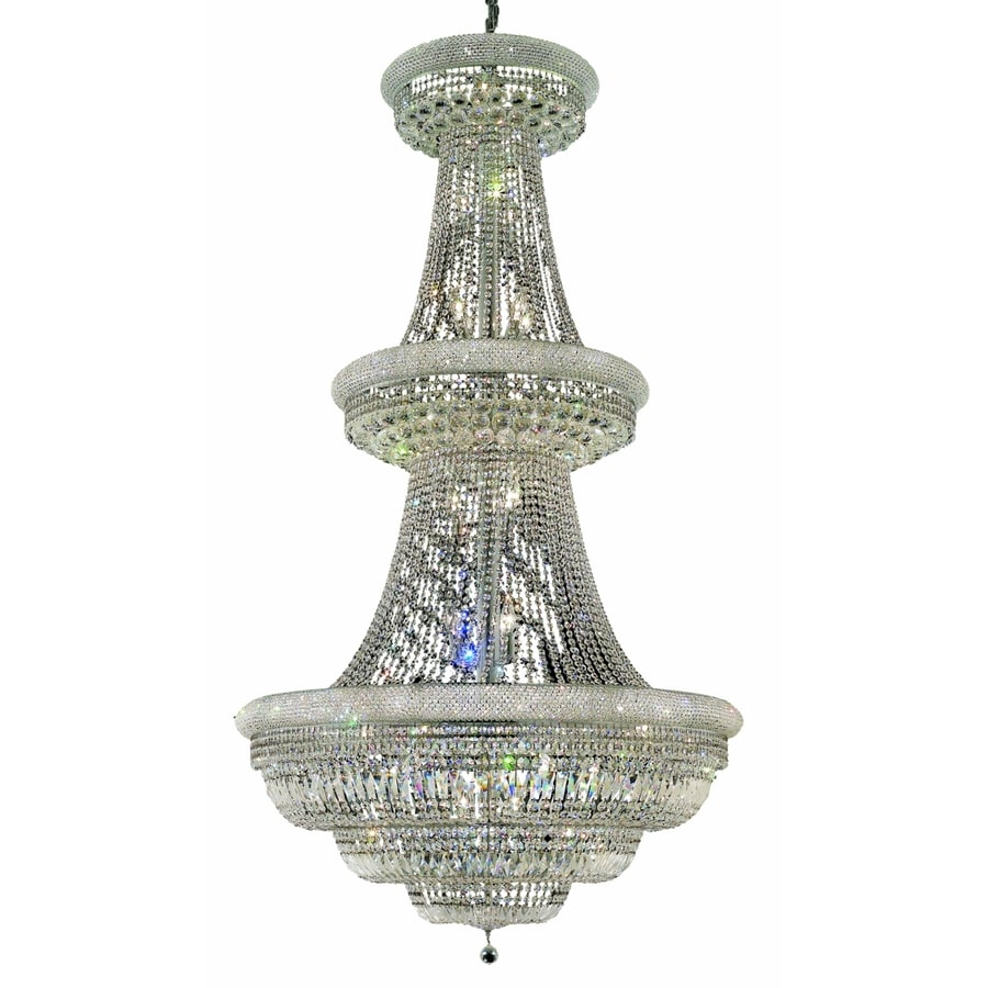 Luminous Lighting Primo 42-in 38-Light Chrome Empire Chandelier